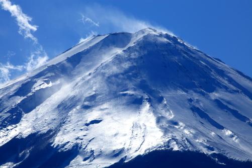 輝く霊峰富士