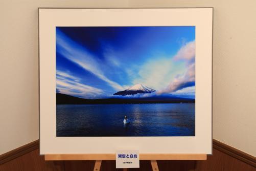 展示写真から「翼雲と白鳥」