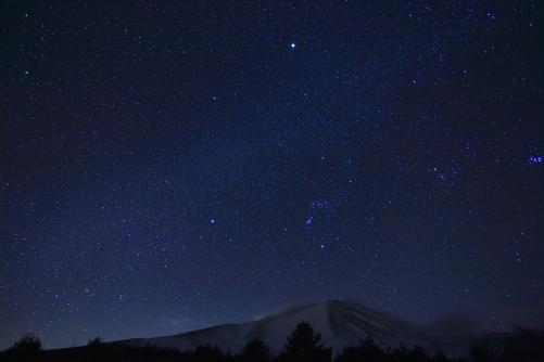 浅間山の星空