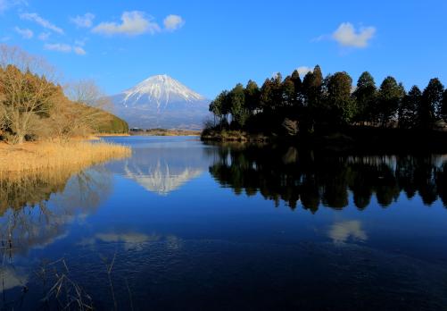 田貫湖の展望台から望む富士山