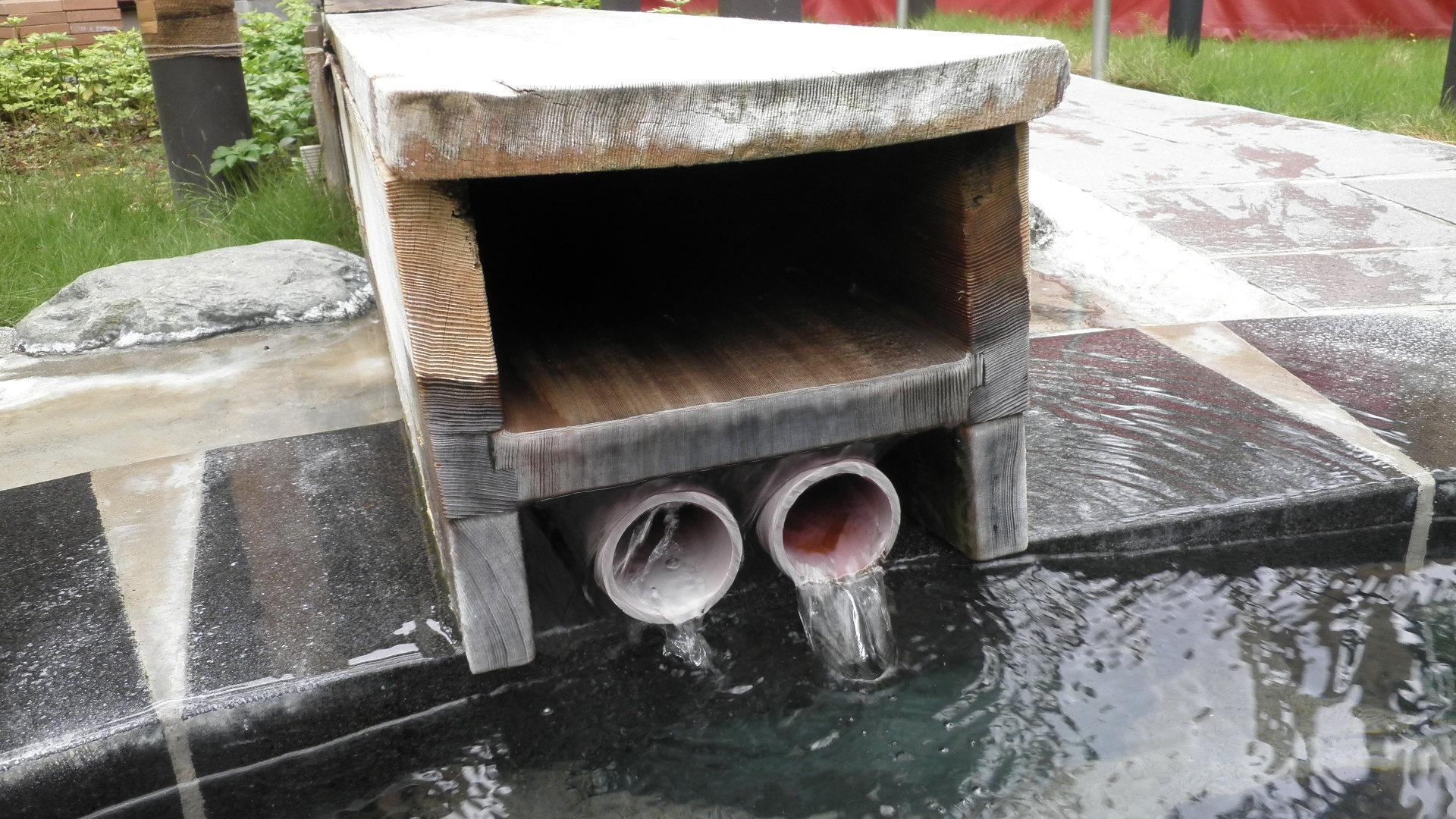 石風呂の湯口