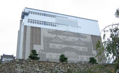 覆いつくされた姫路城
