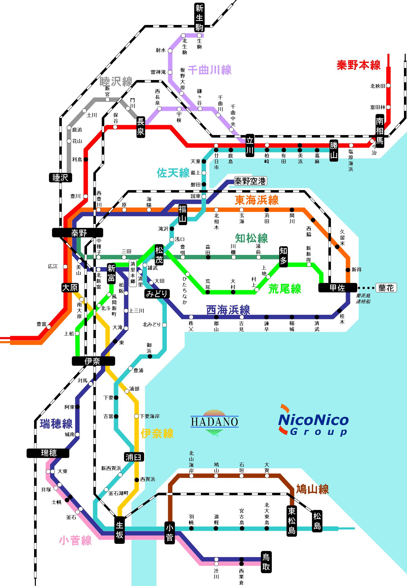 秦野管内路線図2015