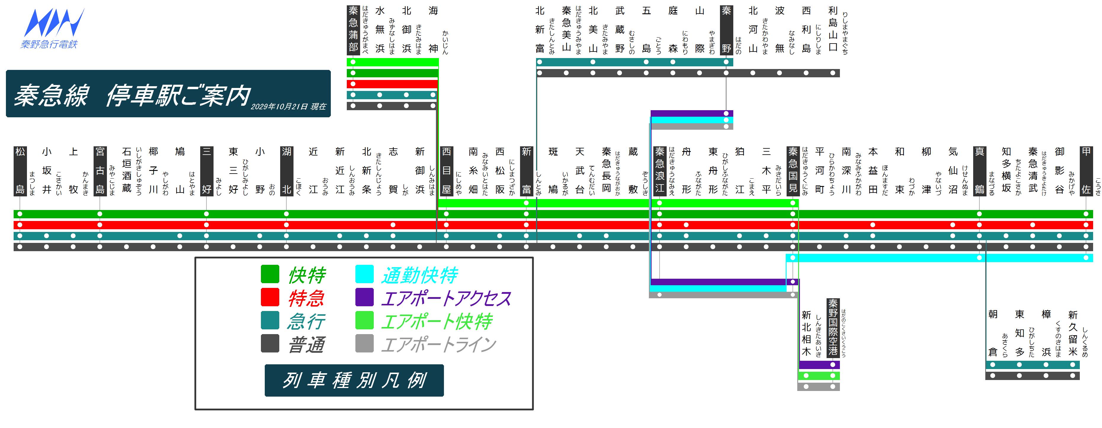 秦野急行電鉄路線図2029