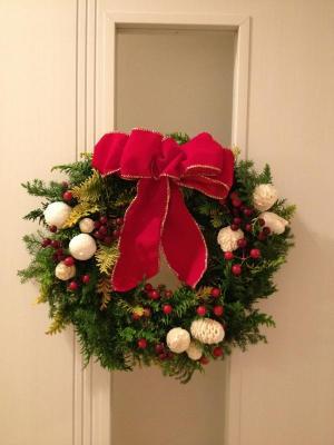 Christmas wreath tricolour
