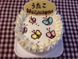 蝶ちょケーキ