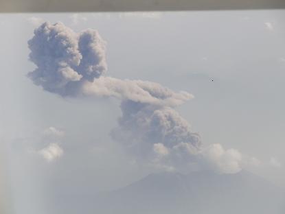 奄美桜島噴煙②