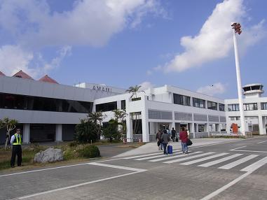 奄美空港福岡便到着