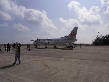 喜界島行き3833便機体