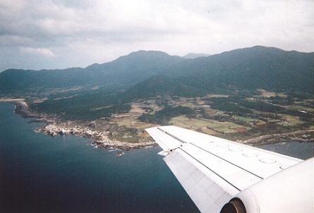 徳之島着陸体勢