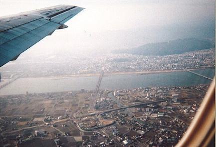徳島市上空 JAC