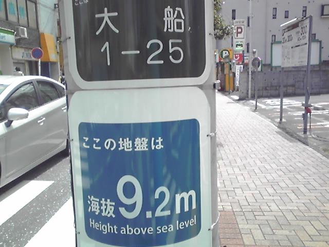 海抜表示プレート