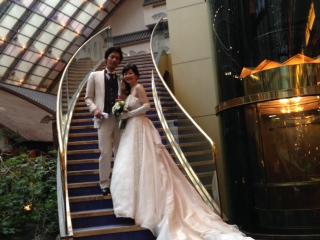 結婚式階段二人