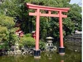 川原神社の池