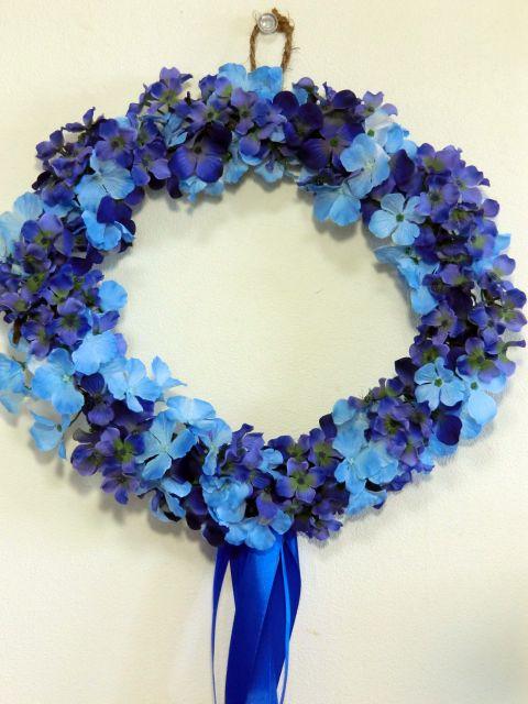 紫陽花リース パープル系