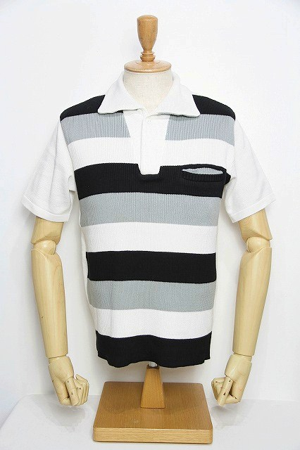 Lot.179 summer knit polo wh