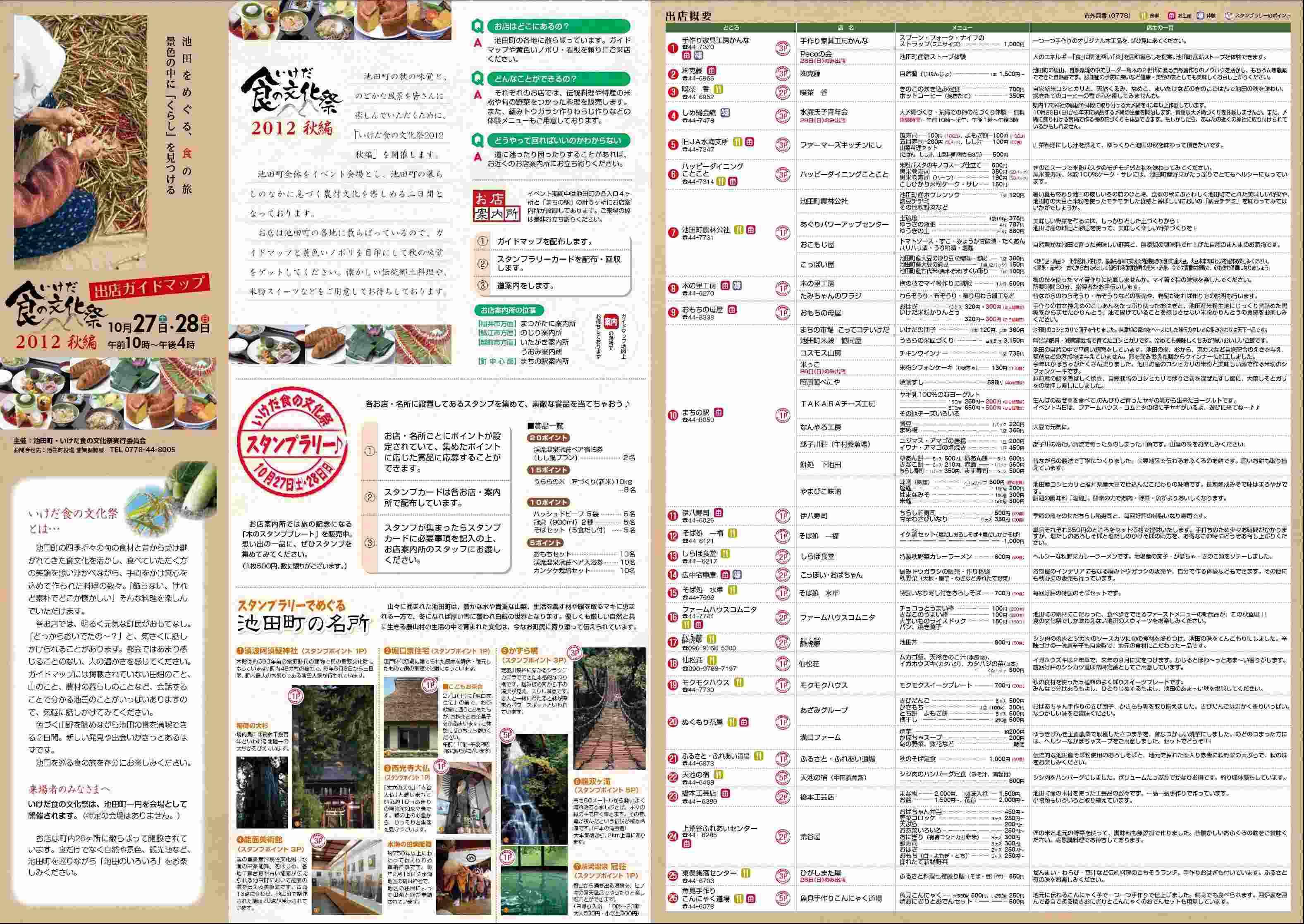 いけだ食の文化祭2012秋編