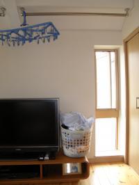P8100043洗面:洗濯物仮干し