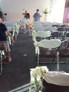 藤井さん結婚式バージンロード前日