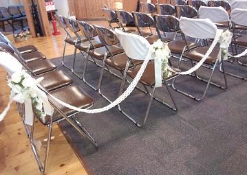 藤井さん結婚式バージンロード完成前日