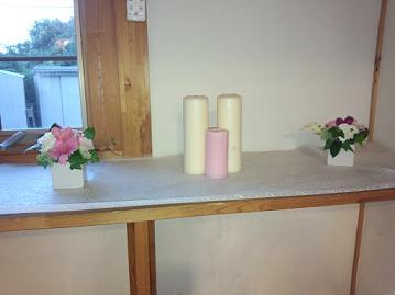 藤井さん結婚式おもてなしの花キャンドル