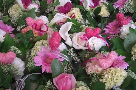 藤井さんプレゼントの花