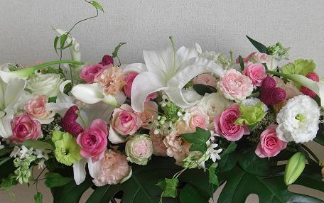 藤井さんの花メインテーブル