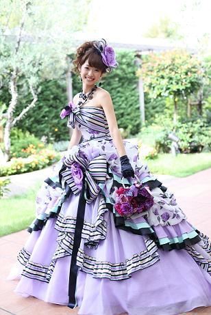 中井さんカラードレス
