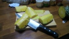 パイナップル芯とり