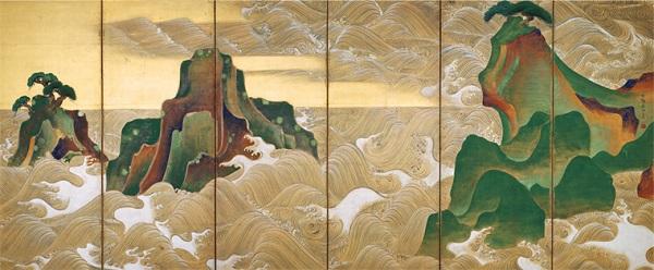 松島図屏風 尾形光琳 ボストン美術館 日本美術の至宝