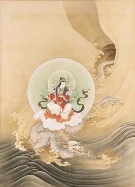1886年.橋本雅邦 騎龍弁天図 ボストン美術館 日本美術の至宝