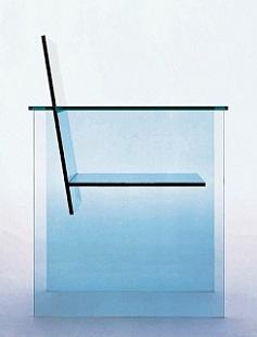 倉俣史朗:作品『Glass Chair』 (1976)