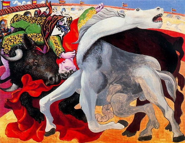 bullfight-the-death-of-the-torero,パブロ・ピカソ『闘牛士の死』