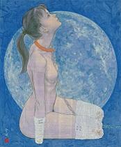 会田誠『雪月花のうち月』(1996)高橋コレクション蔵