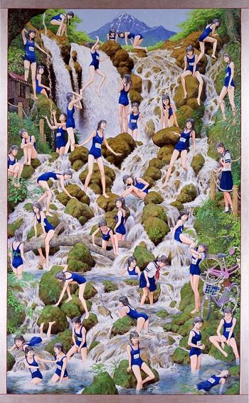 会田誠『滝の絵』(2007-2010)高橋コレクション蔵、撮影:福永和夫