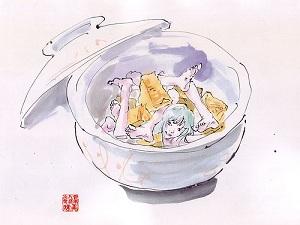 会田誠『食用人造少女・美味ちゃん』シリーズ2(2001年)