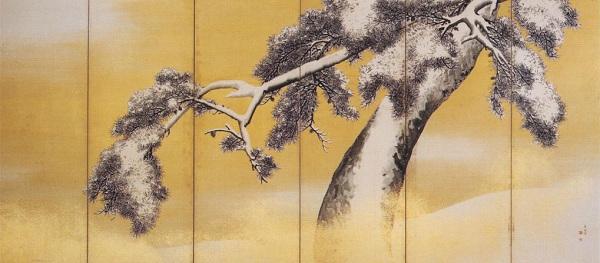 円山応挙『雪松図屏風』右隻