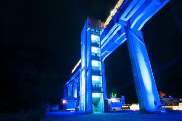 宇都井駅イルミ_2012(3)