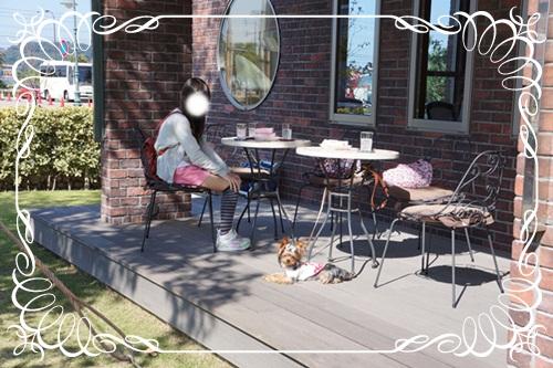 長女とボイ君カフェにて。