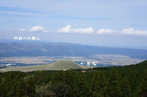 米塚、外輪山