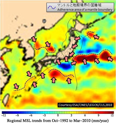 ESA海面変化JPN3