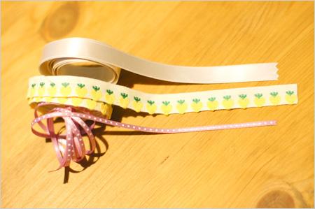 手作り猫首輪のリボン