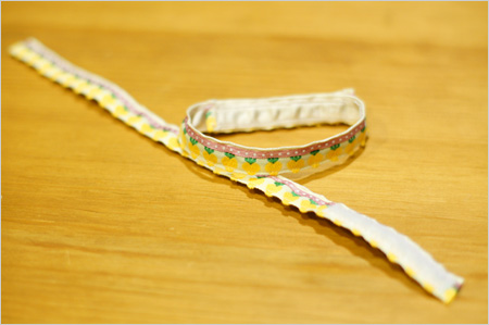 ドイツ製チロリアンテープで猫首輪を手作り
