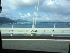 002 20120728関門橋上り車線から見た北九州