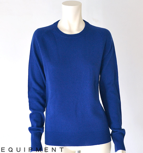 Equipment (エキプモン) SLOANE CREW KNIT,royalblue
