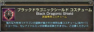 黒竜盾コス