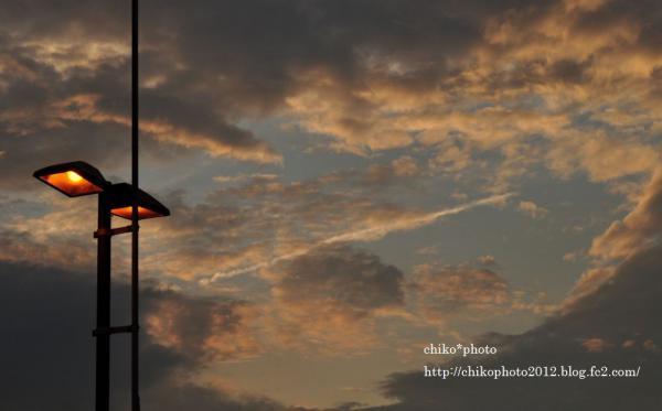 photo-164 夕空と街灯1