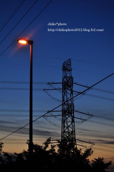 photo-164 夕空と街灯2