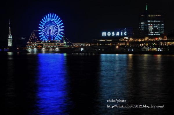 photo-186 神戸の夜景・・・ハーバーランドのモザイク