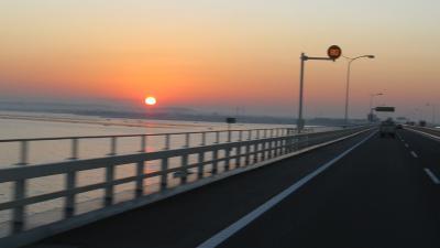 アクアラインで日の出